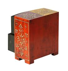 golden orange color source 6 4 u201d wooden jewelry box with 2 drawers in bulk wholesale
