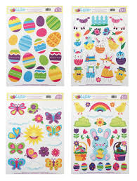 Easter Window Decorations To Make by Amazon Com Easter Window Cling Decorations 4 Large Sheet Sets