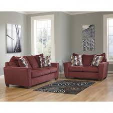 Burgundy Living Room Set Murdock Living Room Set In Burgundy Chenille