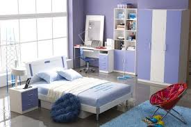 purple combined white color in modern room for tenage girls with