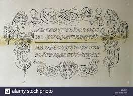 technics printing type sles ornamental letters italics