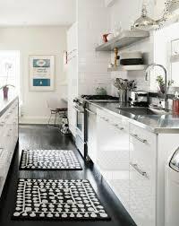 cuisine et blanc photos le parquet noir en 45 photos