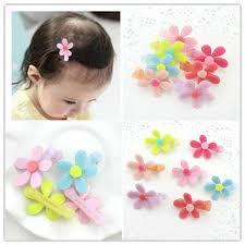 baby barrettes aliexpress buy 30pcs top selling plastic flower kids hair