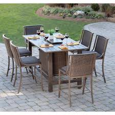 Agio 7 Piece Patio Dining Set - belham living mirfield bar height fire pit patio dining set by