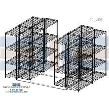 Metal Wire Storage Shelves Movable Metal Wire Shelving Chrome Steel Wire Shelf Racks Wire