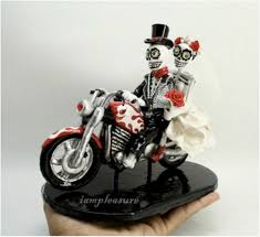 motorcycle wedding cake toppers skull motorcycle wedding cake topper motorcycle wedding cake