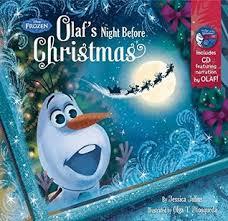 frozen olaf u0027s night christmas book u0026 cd walt disney company