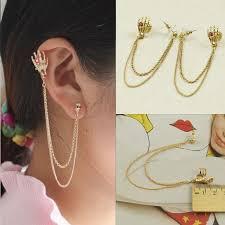 earrings with chain ear cartilage ear clip chain promotion shop for promotional ear clip chain on