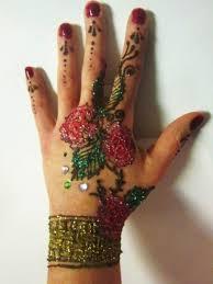 henna and glitter tattoo kit with jewel embellishments diy