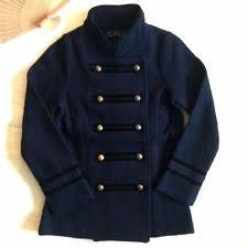 women u0027s double breasted military coat ebay