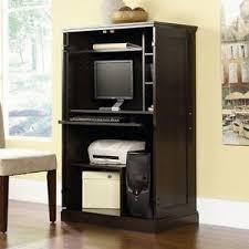 Armoire Desks Home Office Computer Armoire Desk Hutch Workstation Den Cabinet Small Home