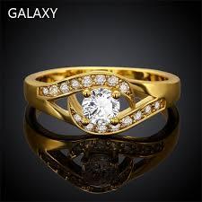 mounting rings images Yhamni big sale pure gold filled mounting 1 2 carat zirconia jpg