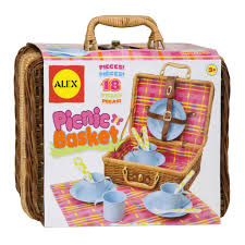 picnic basket set for 2 alex toys picnic basket alexbrands