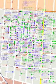 detailed map of new york city of new york new york map soho detailed map