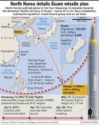 Map Of Guam North Korea Missile Threat To Guam Infographic