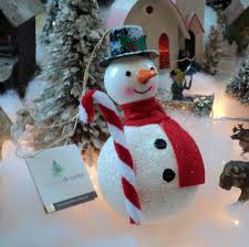 carlini italian blown glass snowman tree ornament
