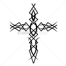 cross tatoo images tribal cross tattoo vector image 1524218 stockunlimited