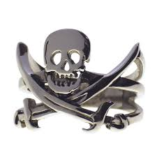 Picture Of A Pirate Flag Crossbones Cutlass Jolly Roger Ring Pirate Flag Band