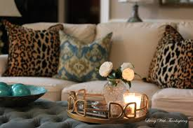 styling a coffee table living with thanksgiving