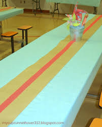Kraft Paper Table Cloth Party Decorations From 30 Pieces Of Paper Mycuprunnethoverblog