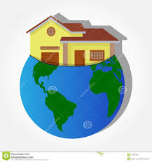 home within the planet earth stock vector image 41300610