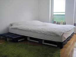 Pallet Bed Furniture Ideas Wooden Pallet Bed Frame Coffee Table Glamorous Bedroom Design