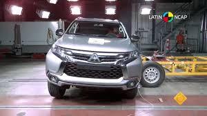 mitsubishi montero 2016 latin ncap mitsubishi montero sport 3 airbag 5 star safety