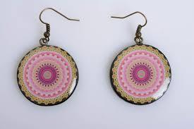 decoupage earrings madeheart handmade designer polymer clay decoupage earrings
