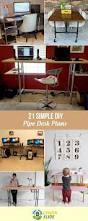 desk plans 21 simple diy pipe desk plans you can build your own desk