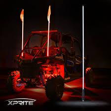 Whip Flag Xprite 5ft Whip Light U0026 Flag For Rzr Atv Utv Jeep Sand Dunes