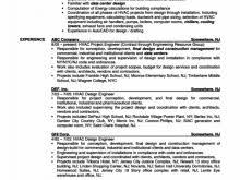 resume for hvac engineer free resume