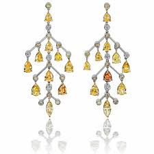 usher earrings an explosive colour palette of autumnal jewellery the