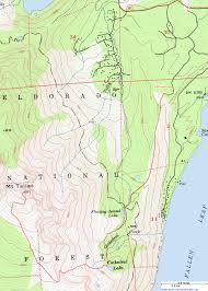 Oregon Topographic Map by Topographic Map Of The Mount Tallac Trail Lake Tahoe California
