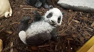 small resin panda garden ornament picclick uk