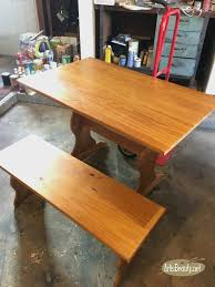 how to stain pine table is updating a farmhouse style table and bench