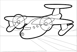klsgfx red plane 2 black white line art coloring sheet colouring