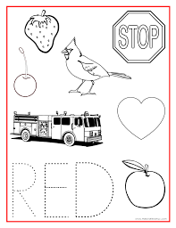 red color activity sheet teaching preschool pinterest color