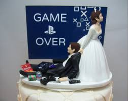 gamer wedding cake topper wedding cake etsy