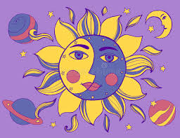 sun and moon in one stock illustration illustration of