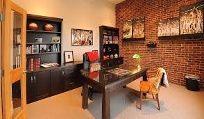 Wall Cabinets For Home Office Trendy Textural Beauty 25 Home Offices With Brick Walls