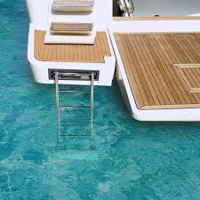 si e rabattable pour échelle pour bateau escamotable de baignade pour plate forme