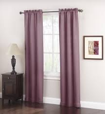 Lavender Blackout Curtains by Jaclyn Smith 2 Piece Logan Room Darkening Split Panels Shop Your