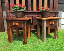 Amish End Tables by Amish Made Barn Wood End Table Amish Furniture Amish Built