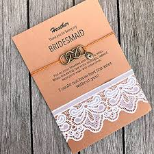 Bridesmaid Asking Gifts Amazon Com Bridesmaid Proposal Bracelet Will You Be My