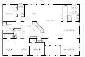 4 bedroom floor plan imposing design 4 bedroom barn house plans metal pole floor homes