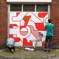 Mural Collaboration by Studio Moross Mural Guy Field