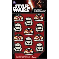 amazon com wilton 710 5080 star wars icing decorations 12 pack