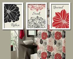 Wall Decor Bathroom Ideas Red And Zebra Bathroom Wall Decor Black Red Flourish Bathroom