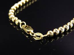 silver gold chain necklace images 10k gold moon cut chain necklace 4mm jpg