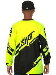 shot motocross gear shot neon yellow 2016 raceway contact mx jersey shot